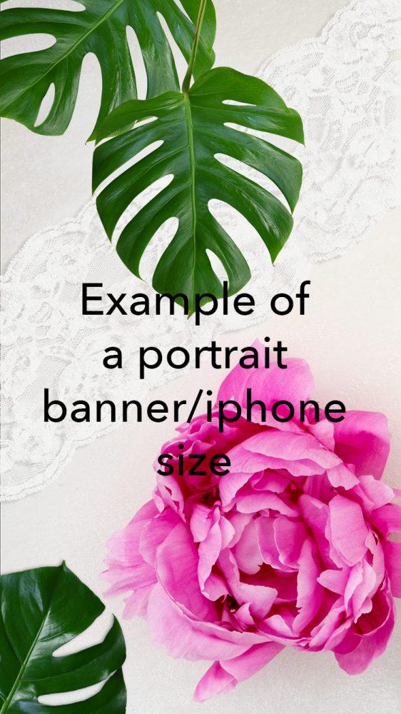 peonies-Blank-Green-leaves-portrait-banner